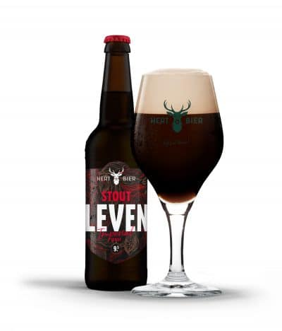 hert bier stout leven imperial stout in glas